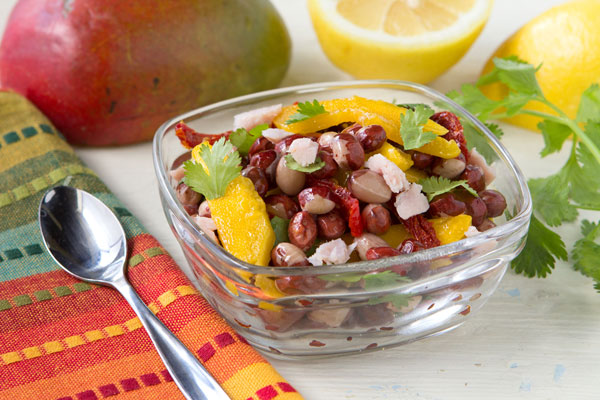 Red Calypso Bean Salad With Mango & Cilantro