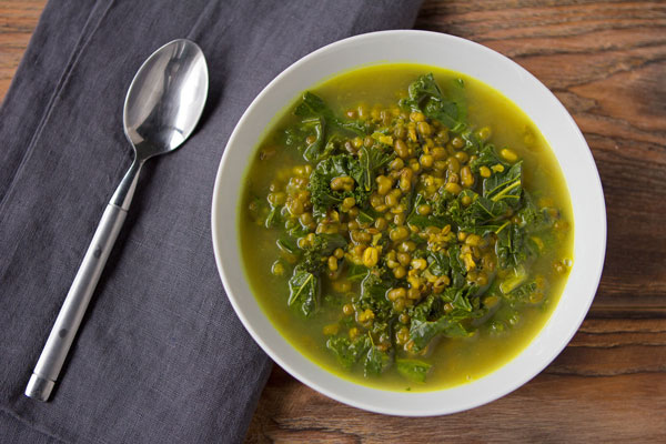Mung Bean and Kale Soup