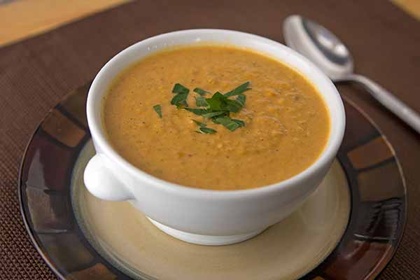 Spicy Coconut and Yellow Pea Soup