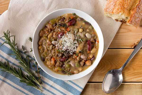 Spicy Sausage and Heirloom Bean Stew