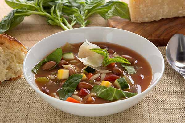 Minestrone with Cranberry Beans