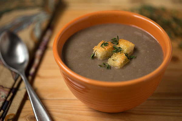 Savory Spanish Pardina Lentil Soup with Country Croutons