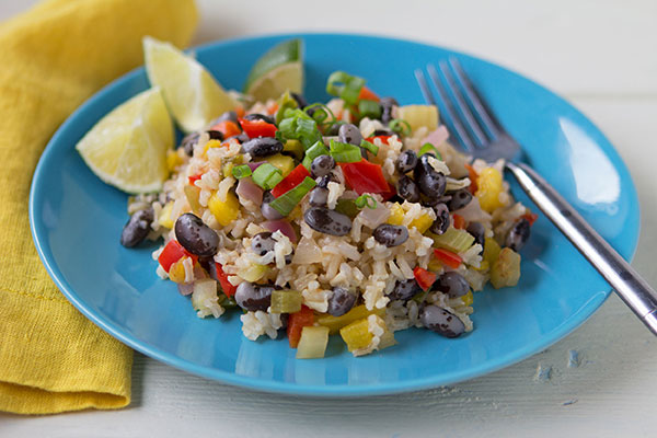 Calypso Beans and Pineapple Rice