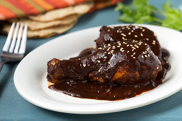 Mole Rojo with Chicken