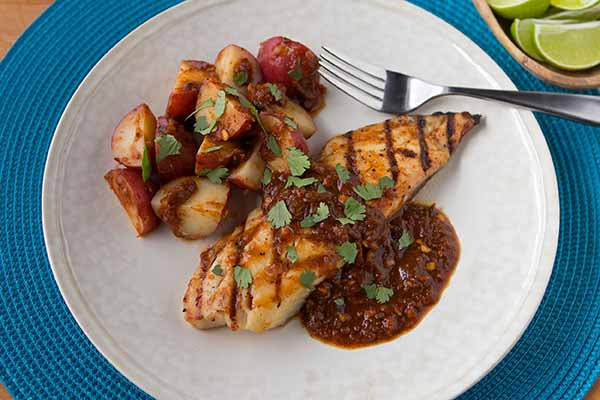 Grilled Fish in Chile Sauce