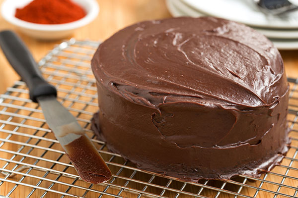 Devil's Food Cake with Carolina Reaper Ganache