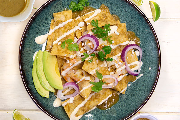 New Mexico Green Hatch Chile Chilaquiles
