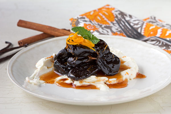 Port-Simmered Prunes with Mascarpone