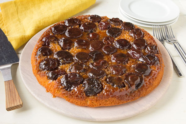 Red Plum Upside-Down Cake