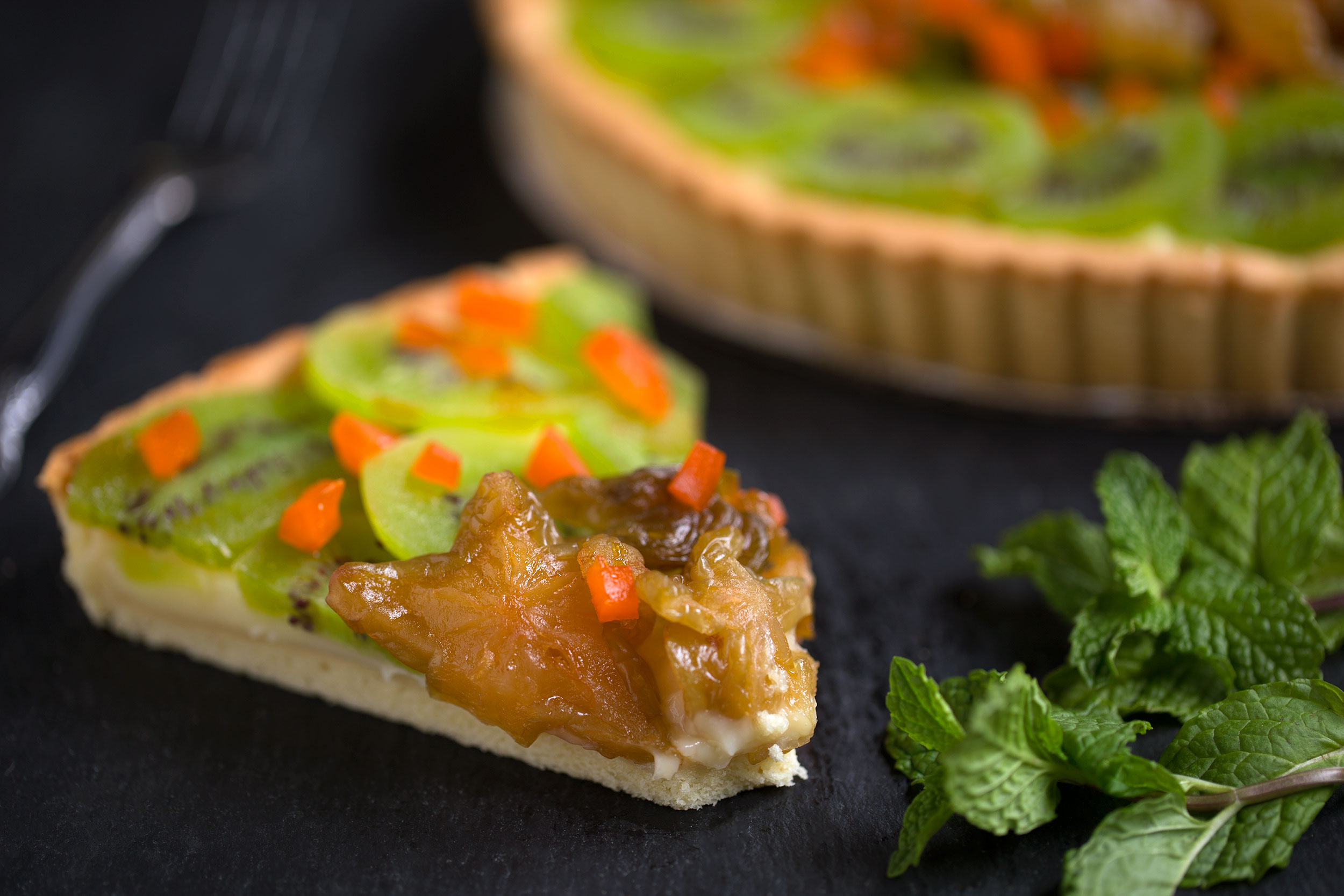 Fruit and Fresh Kiwi Tart
