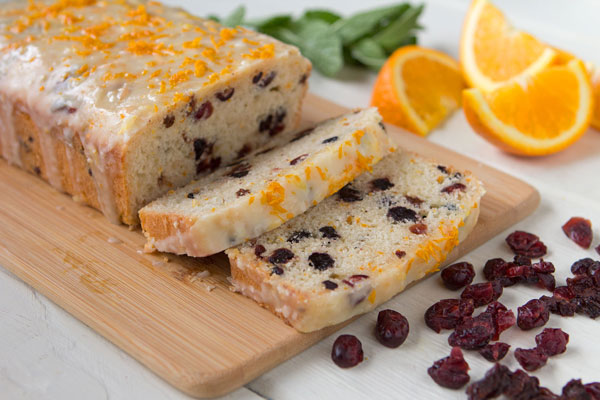 Glazed Triple-Berry Orange Quickbread