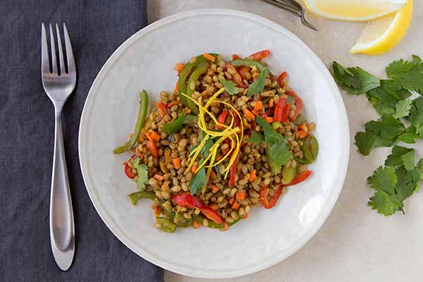 Thai Wheat Berry and Carrot Salad