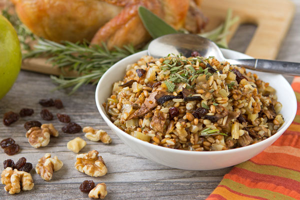 Roasted Chicken with Seven Grain Mix Stuffing