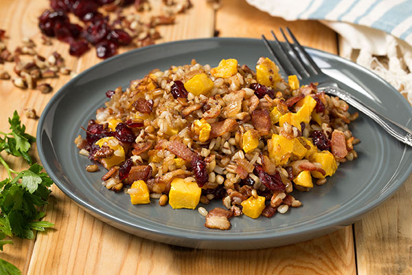 Multi-Grain Blend Pilaf with Acorn Squash