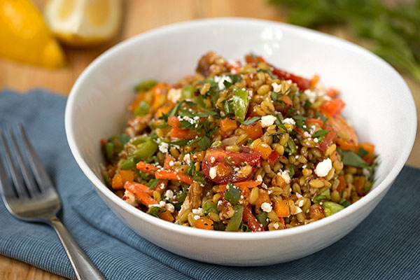 Freekeh and Fresh Vegetable Salad
