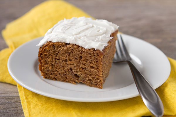 Millet Flour Banana Cake with Cream Cheese Frosting