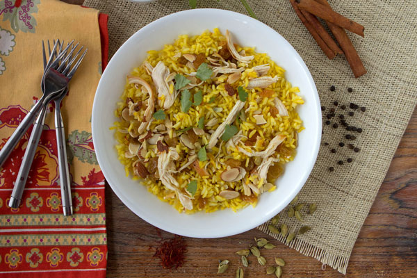 Biryani With Raisins and Chicken