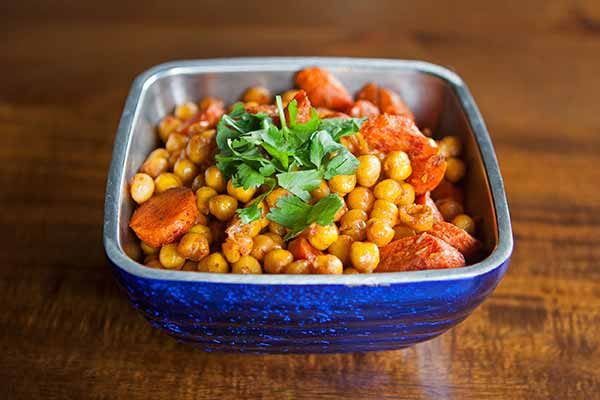 Smoky Roasted Carrots and Chickpeas