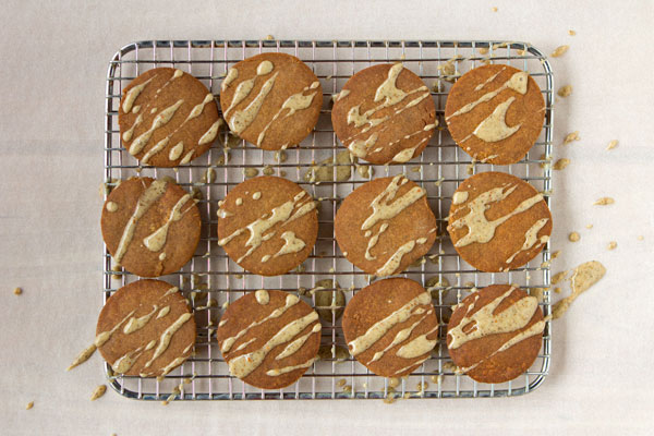Gingerbread Cookies With Juniper Glaze