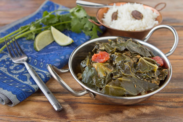 Coconut and Tomato-Braised Greens