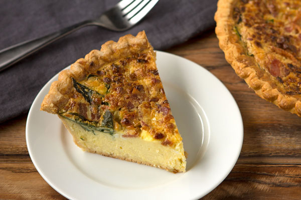 Spinach-Bacon Quiche