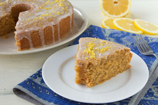 Lemon-Glazed and White Poppy Seed Cake