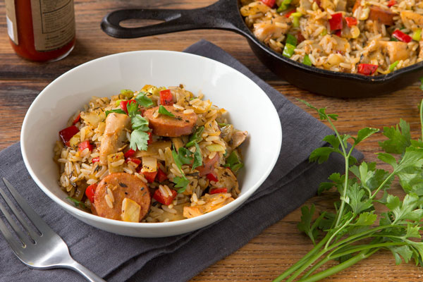 Easy Chicken and Andouille Jambalaya