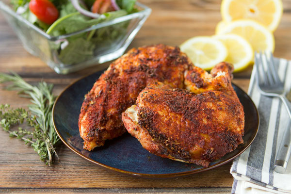 Smoked Sweet Paprika-Rubbed Chicken