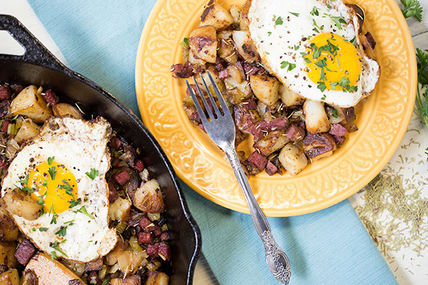Corned Beef and Rosemary Hash