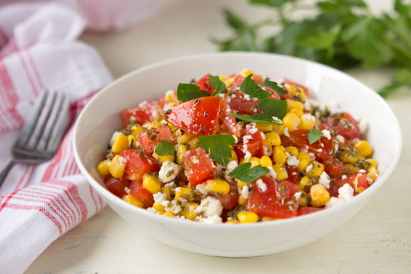Summery Tomato and Corn Salad