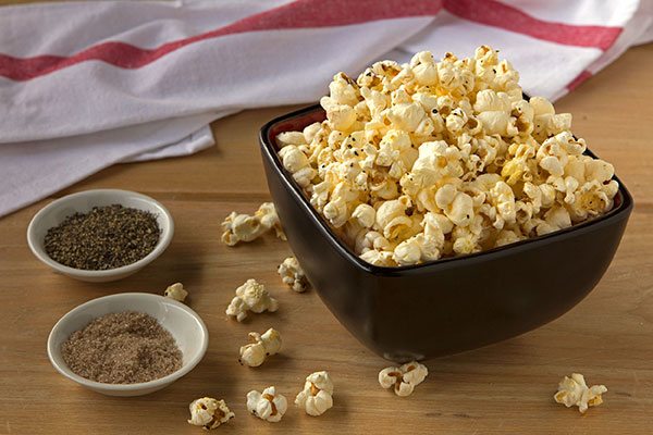 Smoked Sea Salt and Black Pepper Popcorn