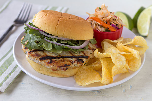 Grilled Citrus-Infused Chicken Burgers
