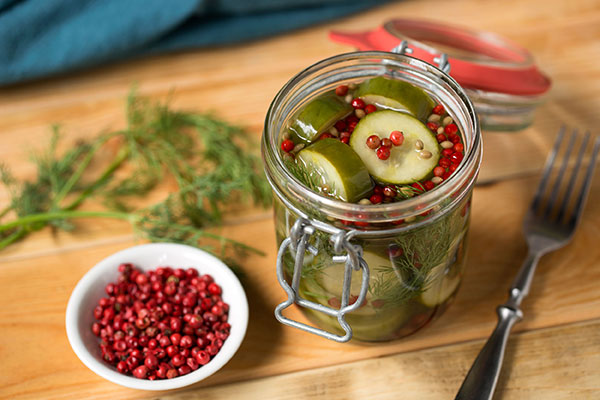 Pink Peppercorn Dill Pickles