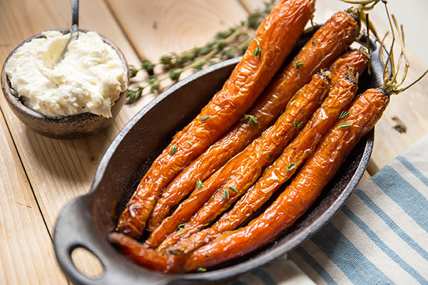 Roasted Carrots with Garlic Butter