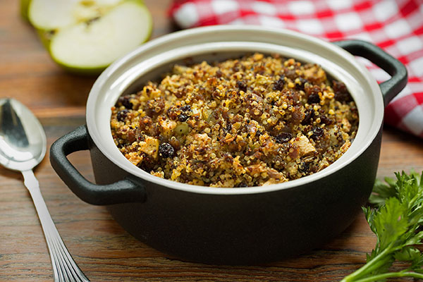 Quinoa and Ancient Grain Sage Sausage Stuffing