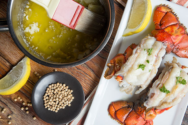 Lobster Tails with White Pepper-Garlic Butter