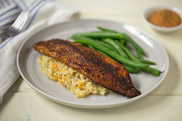Pan-Fried Blackened Tilapia