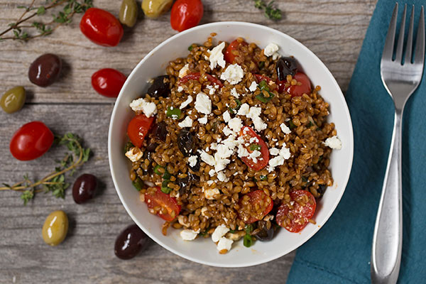 Einkorn and Tomato Salad