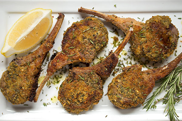 French Mustard & Herb-Crusted Lamb Chops