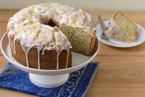 Glazed Lemon Poppy Seed Bundt Cake
