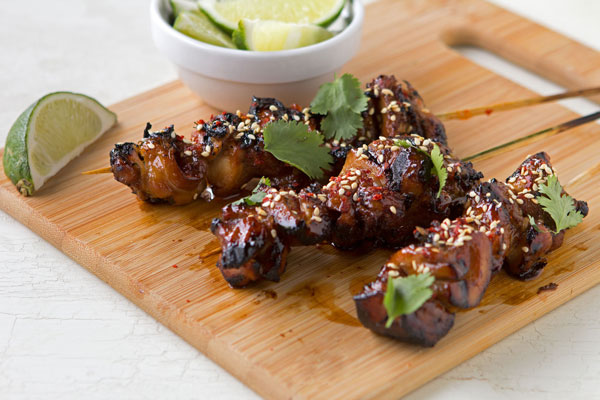 Chinese Sesame Chicken Skewers