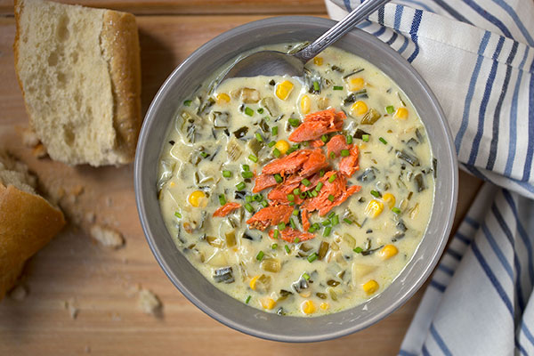 Smoked Salmon and Leek Chowder