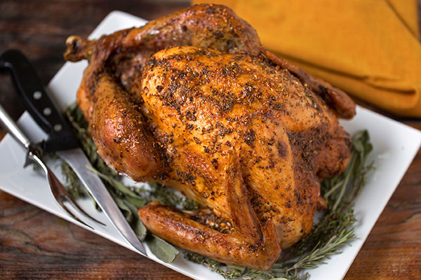 Whole Oven Roasted Turkey With Asian Herbs And Spices Recipe ...