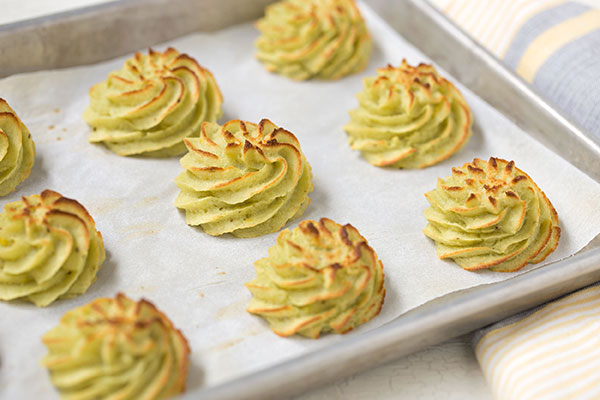 Chive Duchess Potatoes