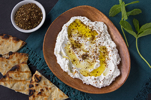 Labneh with Zahtar