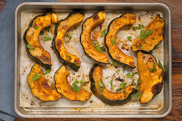 Sriracha & Honey Roasted Acorn Squash