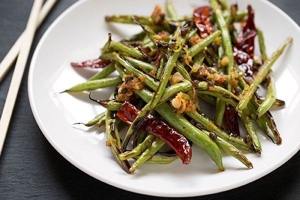 how to cook dry green beans