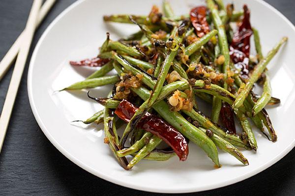 Dry-Fried Szechuan Green Beans