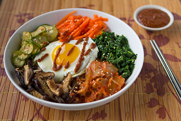 Bibimbap with Gochujang Date Paste