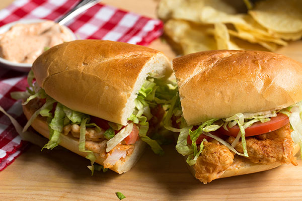 Shrimp Po' Boy with Spicy Aioli